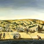 Christopher Pease<br />Peron Peninsula<br />2009<br />Oil on canvas<br />102 x 168cm
